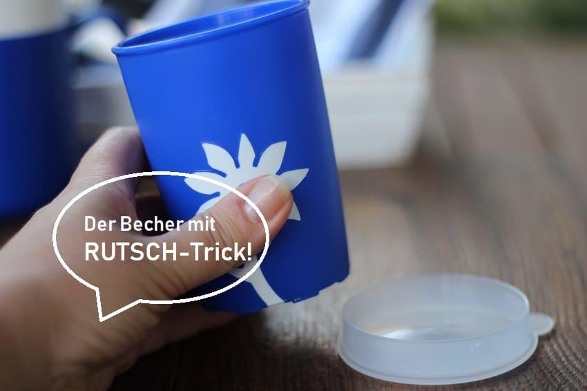 Trinkbecher mit RUTSCH-TRICK von ORNAMIN!