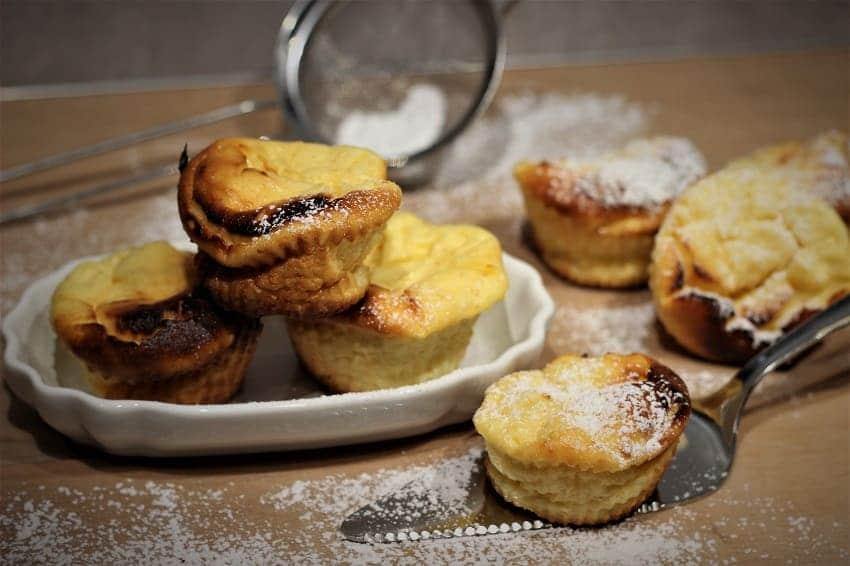 Muffins als Käsekuchen