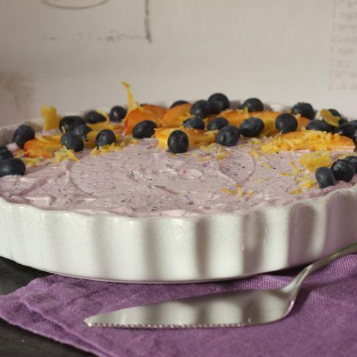 Kuchen ohne Backen mit Obst