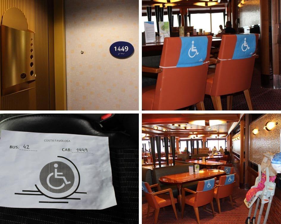 Costa Favolosa-Handicap- behindertengerechte Kabinen