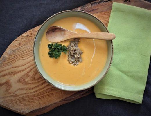 Suppe aus Süßkartoffeln