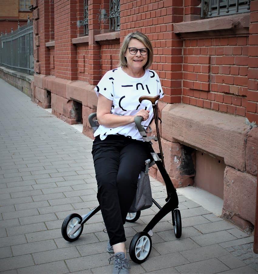 Rollator zum Sitzen aus Dänemark