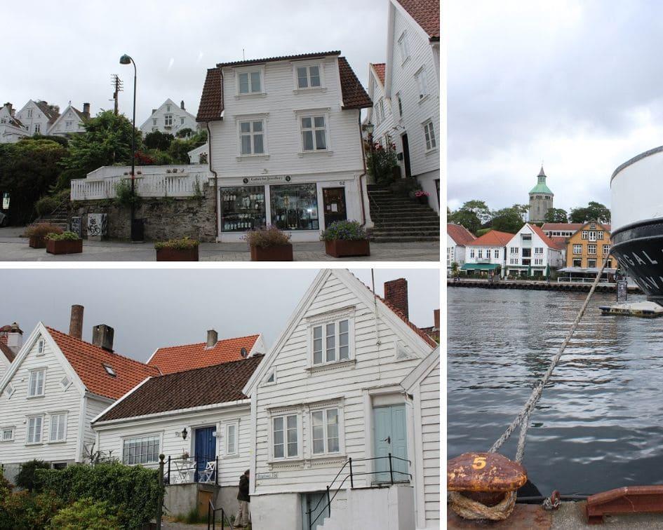 Stavanger mit den berühmten weißen Häuser