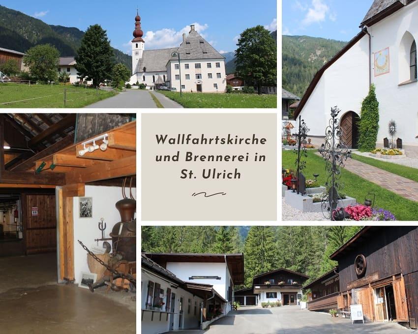 Wallfahrtskirche St. Adolari in St. Ulrich und weltältesten Latschenkieferbrennerei Mack